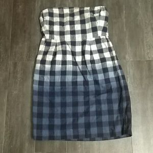 Gap blue buffalo plaid dress